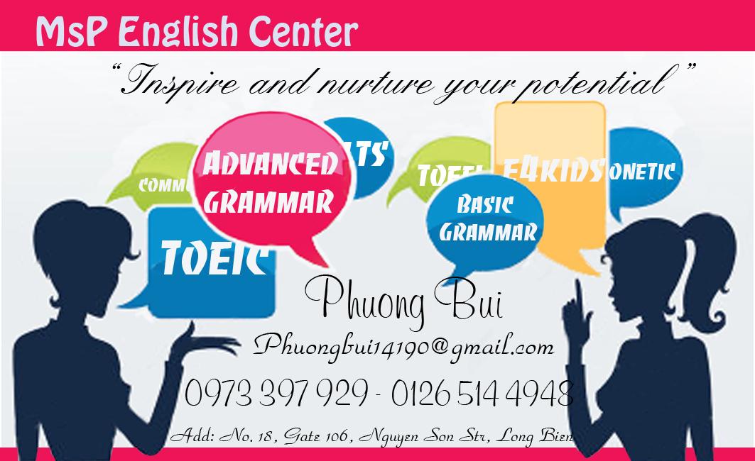 Giới thiệu về trung tâm anh ngữ Ms Phương